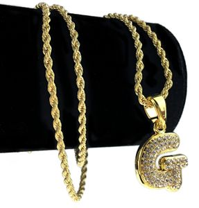 14K Gold Plated G Letter Micro Chain