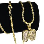 14K Gold Plated H Letter Micro Chain