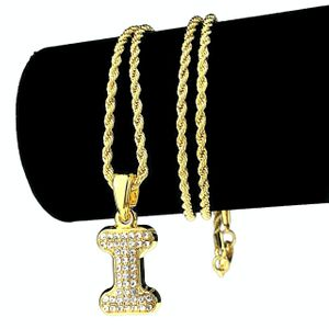 14K Gold Plated I Letter Micro Chain