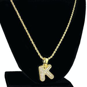 14K Gold Plated K Letter Micro Chain
