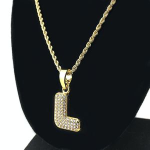 14K Gold Plated L Letter Micro Chain