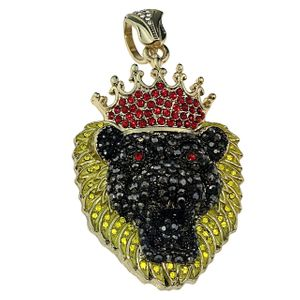 Black & Yellow Lion Head Pendant