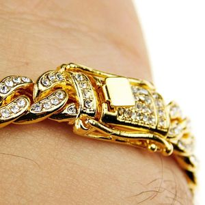 18K Gold Plated Bracelet 8mm x 8.5""