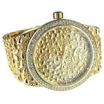 Mens Gold Nugget Design Watch