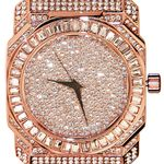 Rose Gold Iced-Out Baguettes Watch
