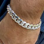 Cuban Silver 925 Bracelet 12MM 8.5""