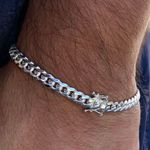 Miami Cuban Silver 925 Bracelet 6MM
