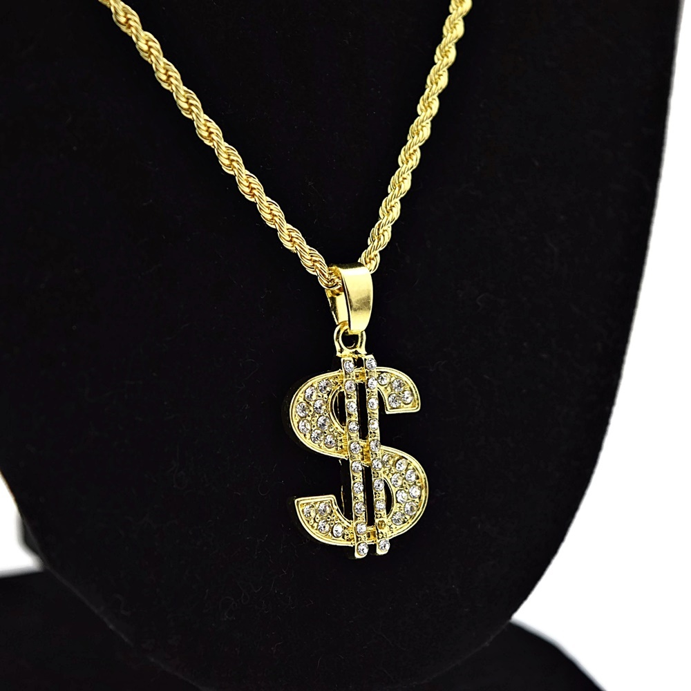 piece micro chain chains rope gold jesus round