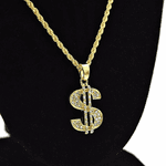 Micro Dollar Sign Rope Chain 24""
