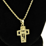 Micro Gold Combo Cross Rope Chain