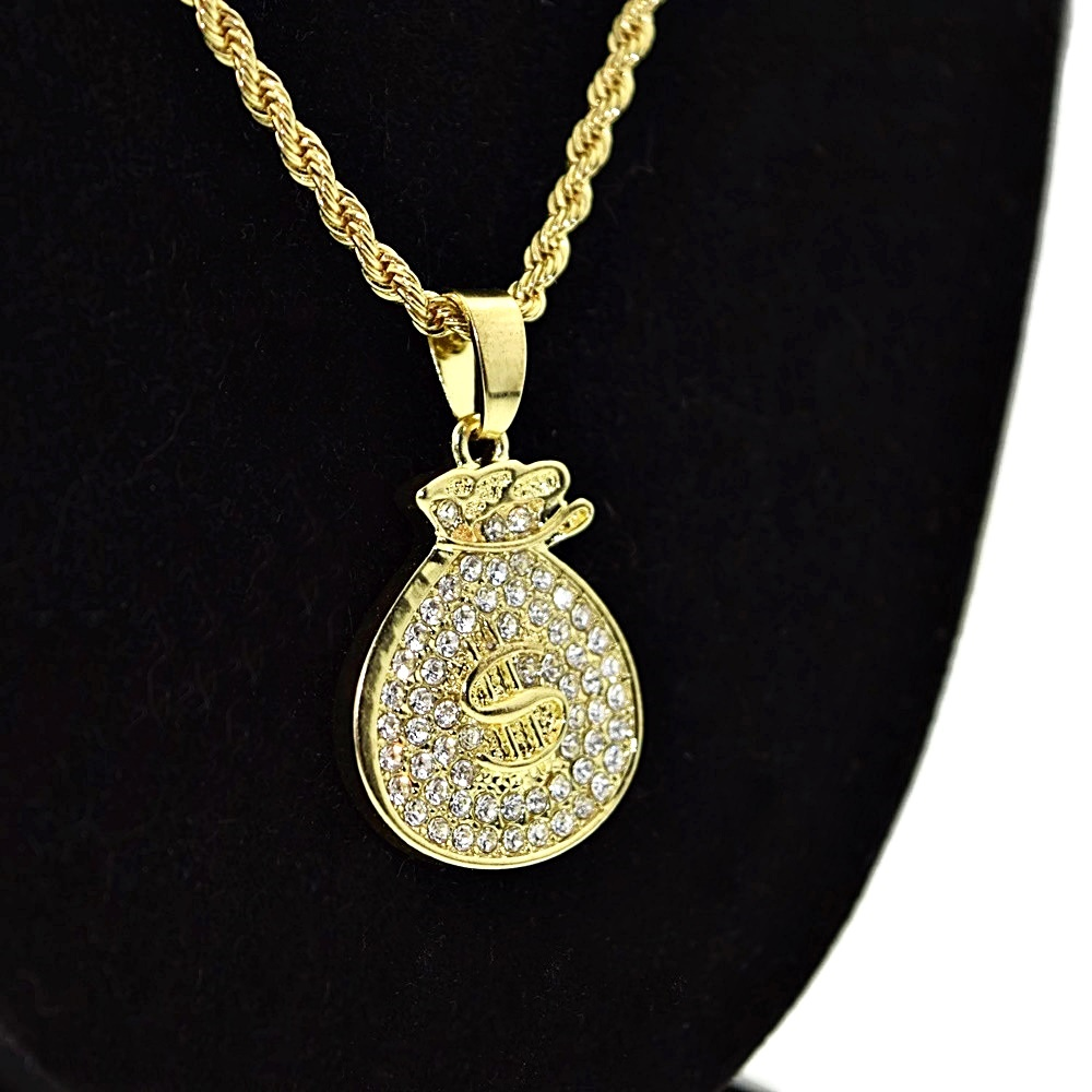image free diamonds micro authentic angel chains products w gold original pendant set