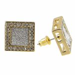 Square Gold Earrings 15MM