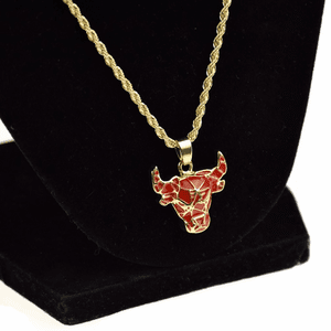 Red & Gold Bull  Rope Chain