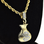 Money Bag Rope Chain 24""