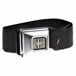 Mustang Brushed Logo Black Belt