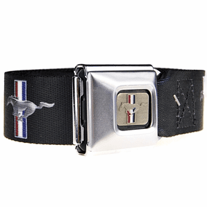 Mustang Brushed Logo Printed Belt