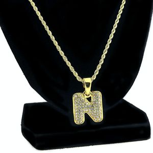 14K Gold Plated N Letter Micro Chain