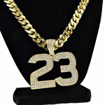 """Number 23 Gold 30"""" Cuban Chain"""