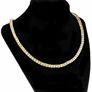"One-Row Gold 20"" Choker Tennis Chain"