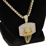 "One-Row Gold 24"" Basketball Chain"