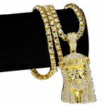 "One-Row Gold 24"" Jesus Chain"