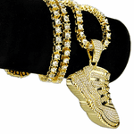 "One-Row Gold 24"" Shoe Chain"