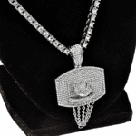 "One-Row Silver 24"" Basketball Chain"