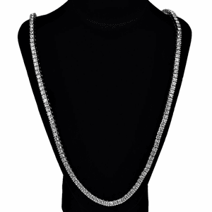 One Row Silver Tennis Chain 30""