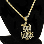 "Only God Can Judge Me 24"" Gold Chain"