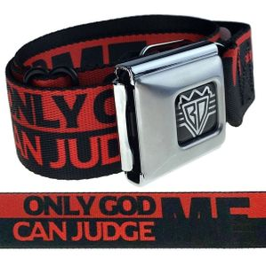 Only God Can Judge Me Red & Black Belt