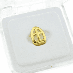 Gold Open Cross Top Tooth Cap