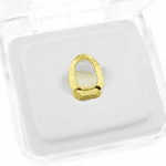14K Gold Plated Open Top Tooth Cap