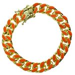 14K Gold Plated Orange Bracelet