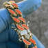 "14K Gold Plated 18"" Orange Cuban Chain"