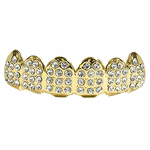 Gold Paved Bling Top Teeth Grillz