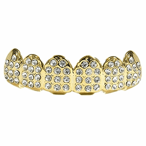 Gold Paved Upper Grillz
