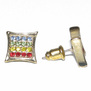 Rasta Gold Tone Kite Earrings