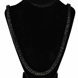 Pharaoh Black Two Row Chain 30""