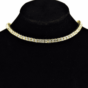 "One-Row Gold 16"" Choker Chain"