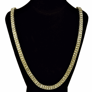 Pharaoh Gold Two Row Chain 30""