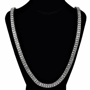 Pharaoh Silver Two Row Chain 30""