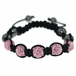 Pink Disco Ball Bling Bracelet