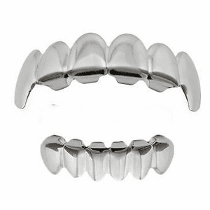 Silver Fangs Set Best Grillz