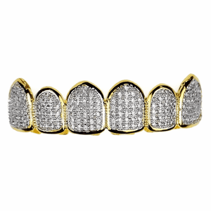 Premium CZ 2-Tone Top Teeth Grillz