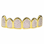 Premium Gold CZ Pink Top Grillz