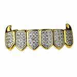 Premium 2-Tone CZ Bottom Fang Grillz