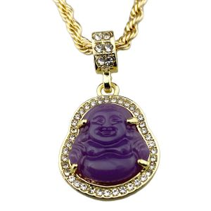 Gold Plated Purple Buddha Rope Chain