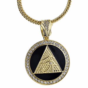 "Gold/Black Pyramid Eye 36"" Franco"