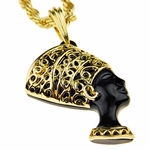 Queen Nefertiti Gold Rope Chain 24""