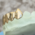 Real 14K Gold Vampire Fangs Custom Grillz